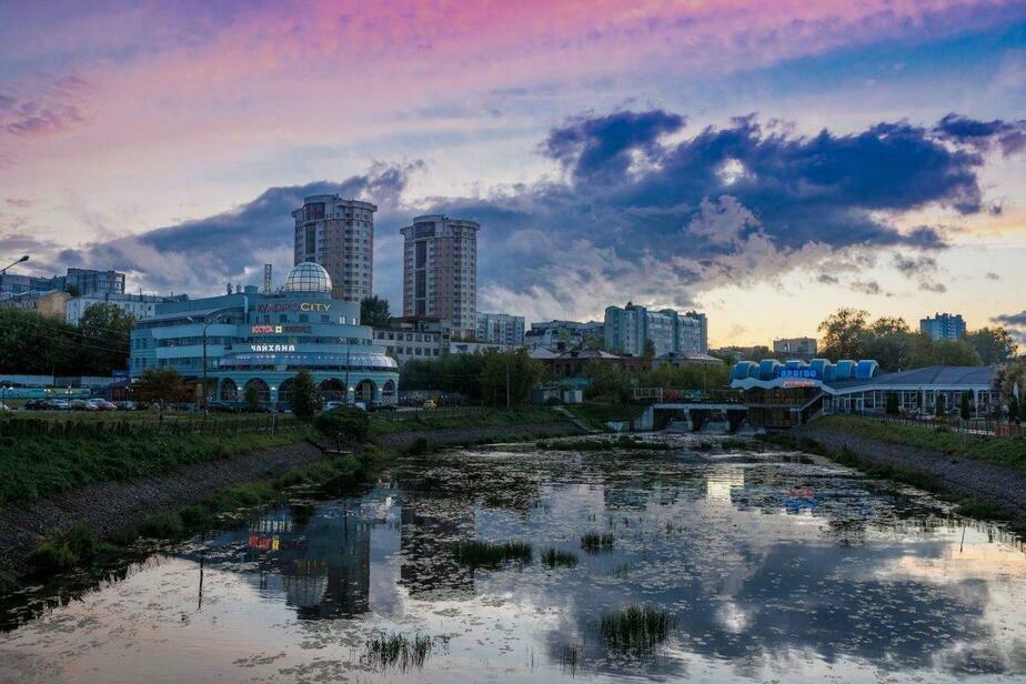 Вид города с реки Уводь | Сергей Шандин