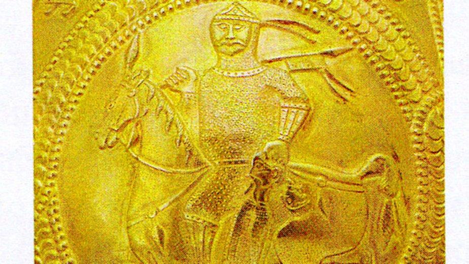 Изображение воина на кольце из Штробьенена | Фото: архив Константина Скворцова