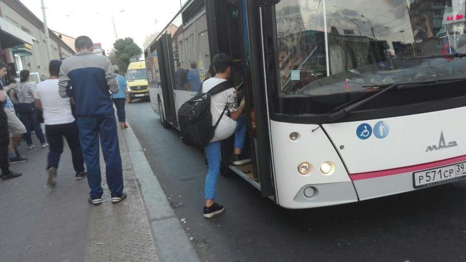 Эксперты отрицательно отнеслись к идее построить заездные карманы для автобусов в центре Калининграда - Новости Калининграда   Фото: Константин Сериков