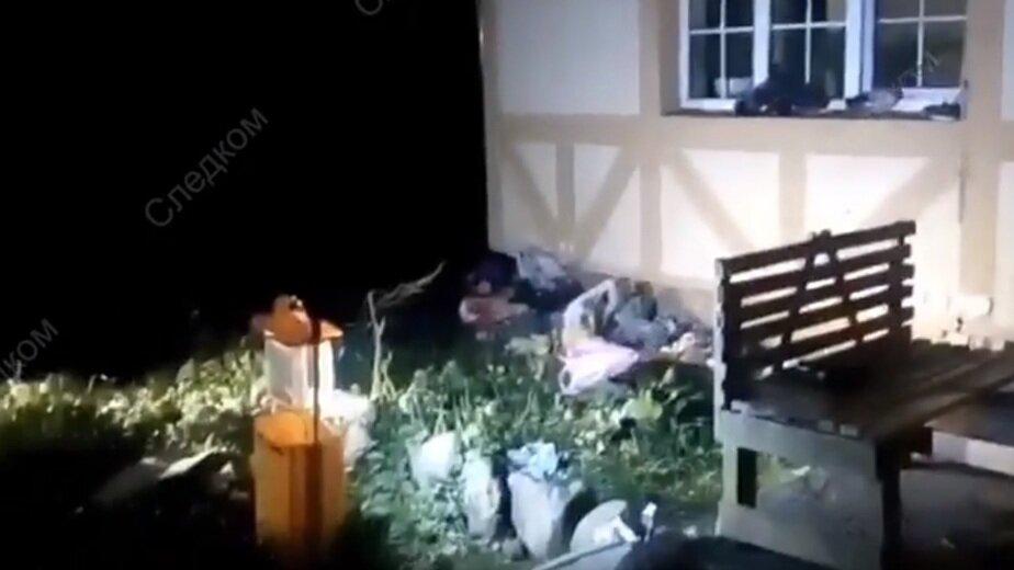 В Калининградской области нашли тело новорожденного в пакете - Новости Калининграда   Кадр видеозаписи регионального СУ СК РФ