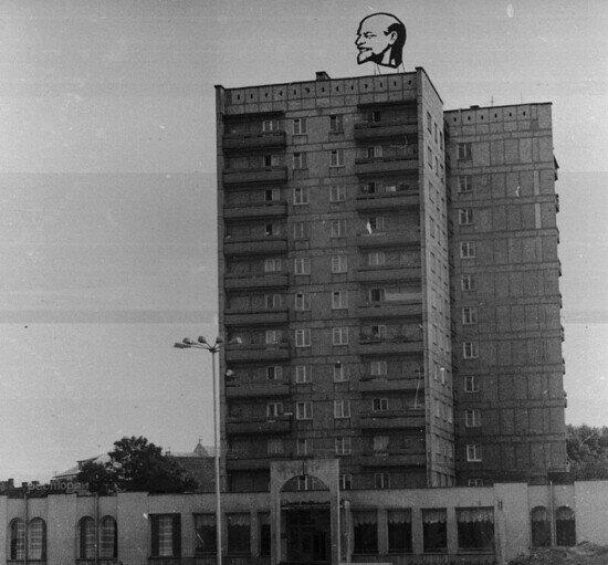 Где-то в Советске: Ленин на раскалённой крыше | Фото: частная коллекция А. Бахтина