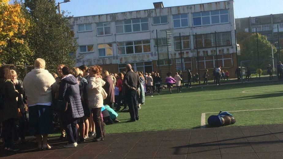 В Калининграде эвакуировали лицей №18 (обновлено) - Новости Калининграда | Фото: очевидец