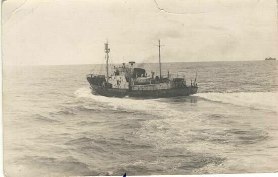 Китобойное судно в рейсе | Фото из семейного альбома Татьяны Тишиной