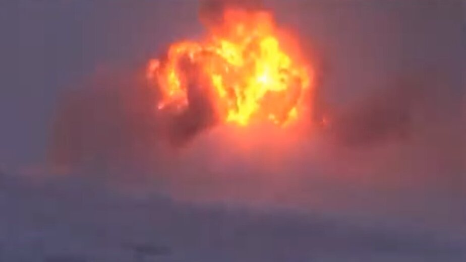 Появилось видео крушения бомбардировщика под Мурманском - Новости Калининграда   Фото: кадр из видео