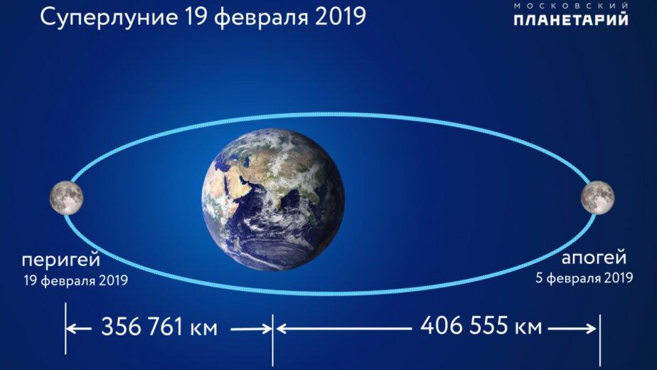 В ночь на 19 февраля россияне увидят самую большую Луну в 2019 году - Новости Калининграда