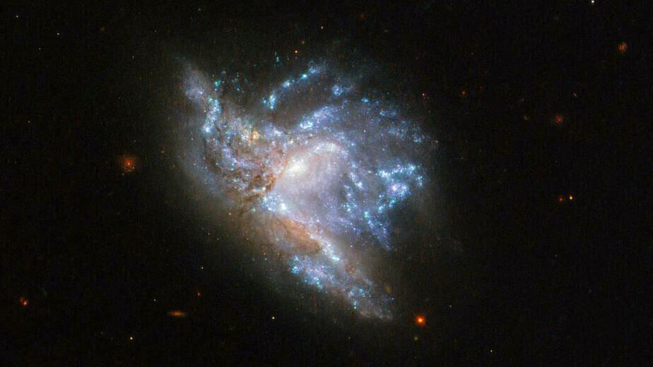 NASA  опубликовало фото столкновения галактик в созвездии Геркулеса - Новости Калининграда | Фото: nasa.gov