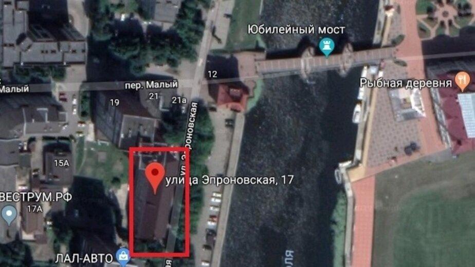 Офисы напротив Рыбной деревни продают за 18,6 млн рублей - Новости Калининграда   Скриншот сервиса  Google Maps