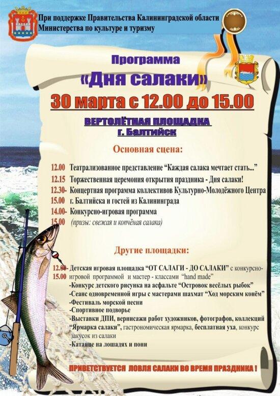 В Балтийске пройдёт День салаки (программа) - Новости Калининграда
