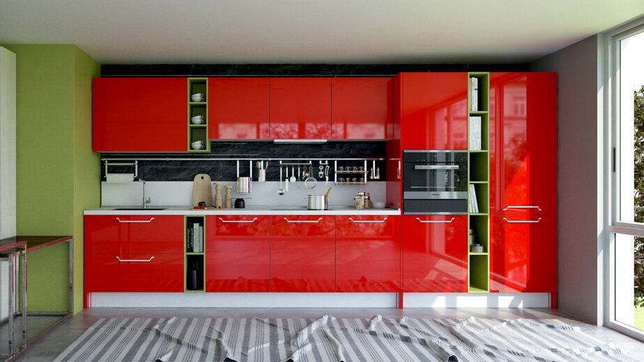 """Классический итальянский оттенок """"Феррари"""". Присутствие этого глубокого оттенка на кухне, несомненно, вдохновит на великие достижения."""