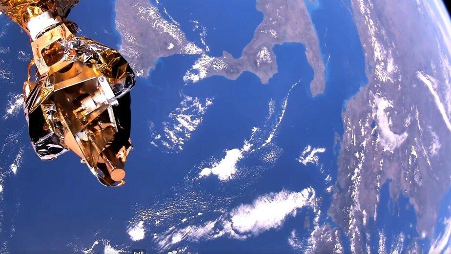 Созданный в России спутник первым в мире снял видео Земли в формате сверхвысокой чёткости - Новости Калининграда | Фото: кадр видеозаписи
