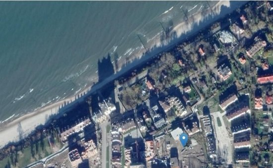 В Зеленоградске разрешили построить гостиницу с апартаментами - Новости Калининграда   Скриншот кадастровой карты