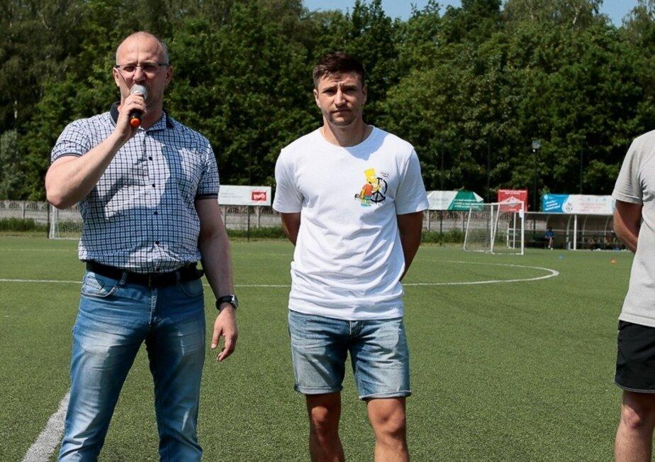 На фото: Дмитрий Стоцкий (справа)  | Фото: Калининградская Любительская Футбольная Лига