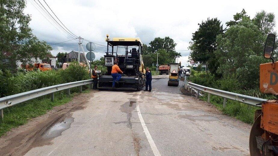 На фото: ремонт моста в Ласкино | Фото из Facebook Елены Дятловой