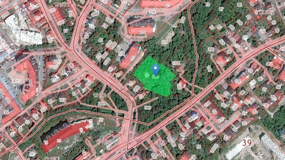 На ул. Гагарина в Калининграде построят храм   - Новости Калининграда | Скриншот кадастровой карты