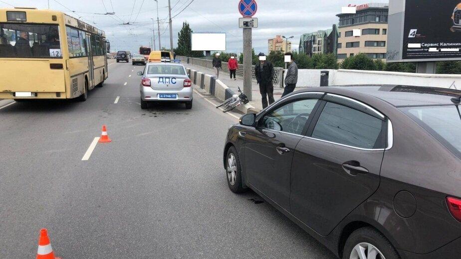 В Калининграде на эстакадном мосту сбили велосипедиста - Новости Калининграда | Фото: пресс-служба регионального УМВД