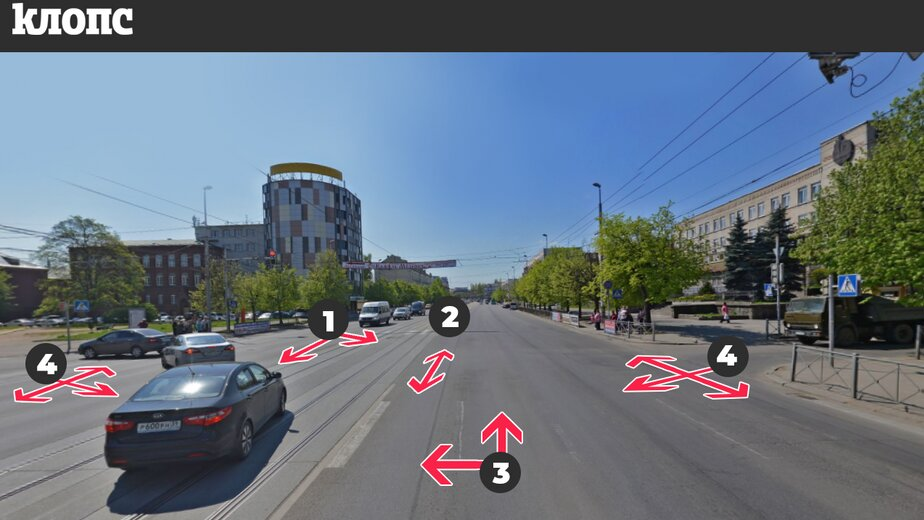 """Авторазбор """"Клопс"""": как сделать безопасным перекрёсток у """"Атлантики"""", где Mercedes столкнулся с Chrysler - Новости Калининграда"""