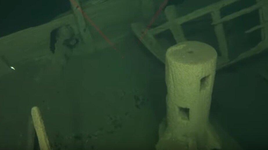 На дне Балтийского моря нашли затонувший около 500 лет назад корабль (видео) - Новости Калининграда | Кадр видеозаписи