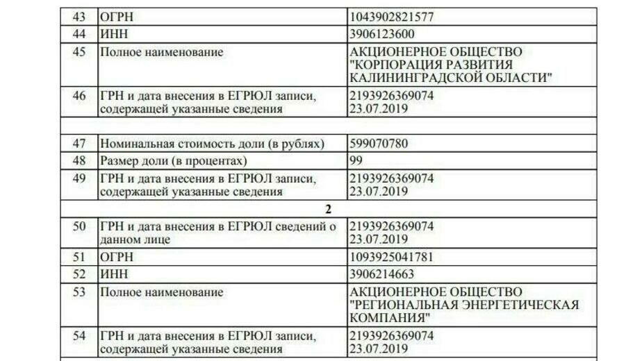 Правительство Калининградской области выкупило Дом Советов - Новости Калининграда | Фото: Скриншот ЕГРЮЛ