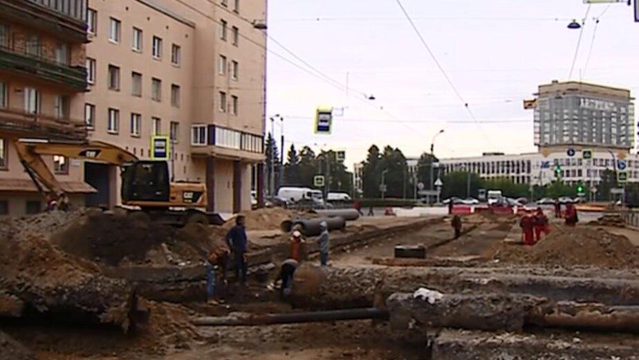 В Петербурге под трамвайными путями обнаружили шведский город допетровской эпохи  - Новости Калининграда   Кадр из телесюсжета на НТВ