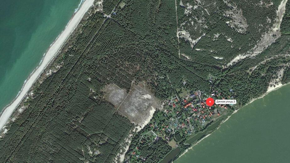 Корпорация развития продаёт участок на Куршской косе в 150 метрах от залива - Новости Калининграда | Скриншот: Корпорация развития Калининградской области