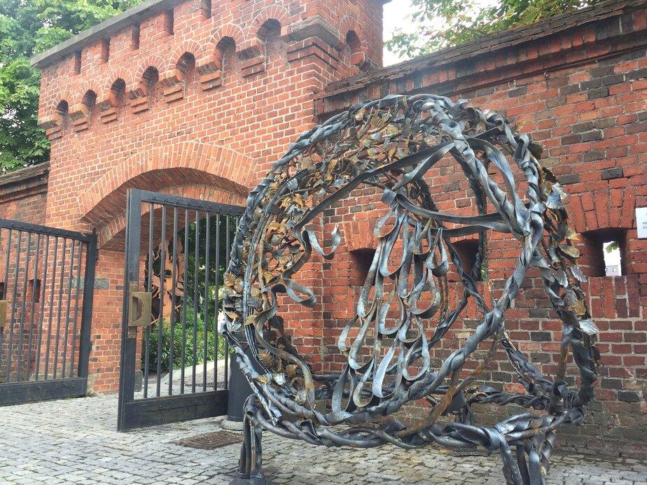 У Музея янтаря в Калининграде выковали железную скульптуру (фото) - Новости Калининграда | Фото: Александр Подгорчук