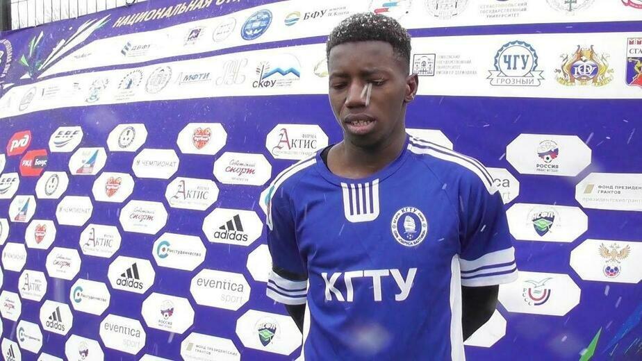 Студент КГТУ сыграл за сборную Мали по футболу - Новости Калининграда | Скриншот видео с YouTube-канала Национальной студенческой футбольной лиги