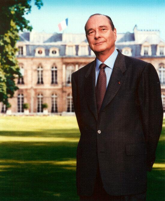 Официальный портрет Жака Ширака | Фото: с официального сайта президента Франции