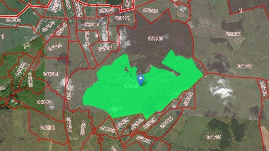 Власти Калининградской области отдадут в аренду бывший аэродром - Новости Калининграда   Скриншот кадастровой карты