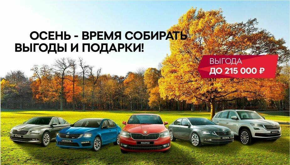 """Весь октябрь клиентов компании """"ОТТО КАР"""" ждёт отличный урожай выгод на новые автомобили ŠKODA - Новости Калининграда"""