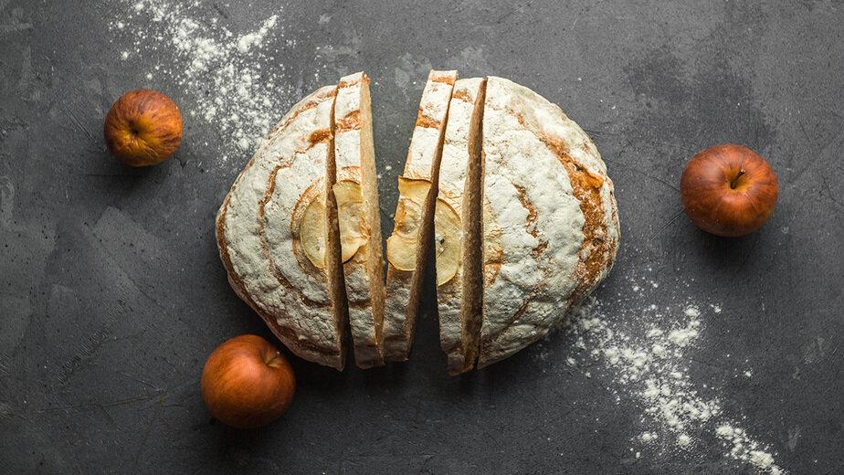 Хлеб яблочный с тыквой и корицей