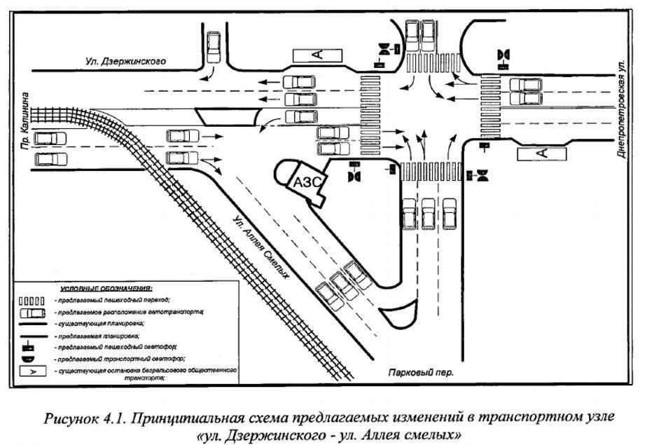 В Калининграде изменят схему движения на перекрёстке Дзержинского — Аллея Смелых (проект) - Новости Калининграда | Проект предоставлен мэрией города