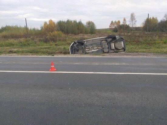 В Гвардейском районе перевернулась Škoda, пострадал пятилетний пассажир - Новости Калининграда   Фото: пресс-служба регионального УМВД