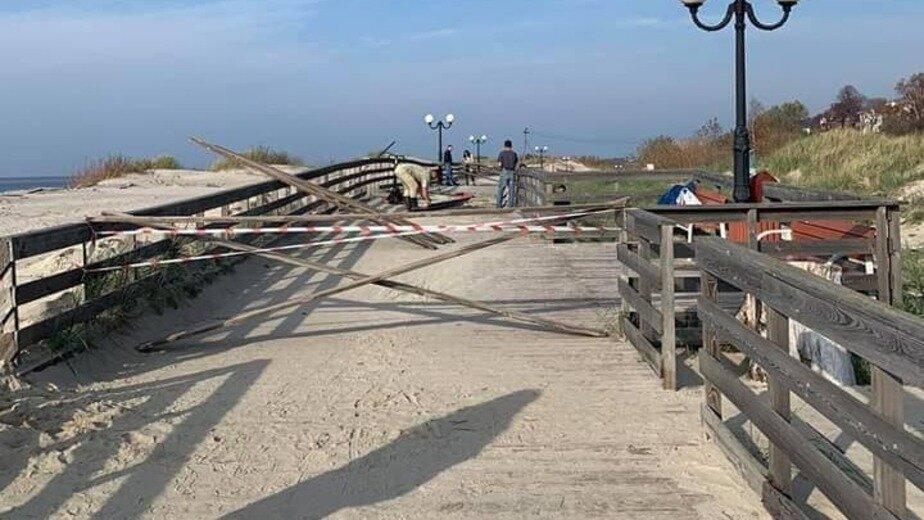 В Янтарном поднимут часть променада, чтобы его не засыпало песком - Новости Калининграда | Фото: Алексей Заливатский / Facebook