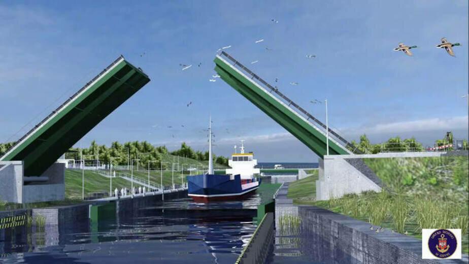 Польские экологи считают, что строители канала на Балтийской косе могут предстать перед судом - Новости Калининграда | Эскиз: министерство морской экономики и внутреннего судоходства Польши