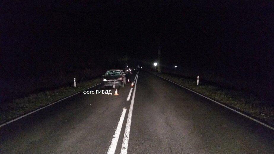 На трассе Калининград — Мамоново Ford Focus насмерть сбил женщину - Новости Калининграда | Фото: УГИБДД