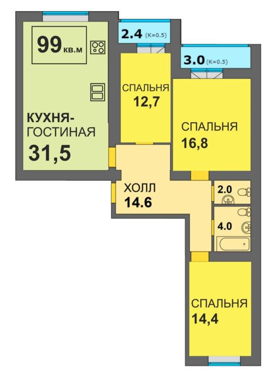 Жильё для большой семьи: в Калининграде предлагают квартиры необычной планировки - Новости Калининграда