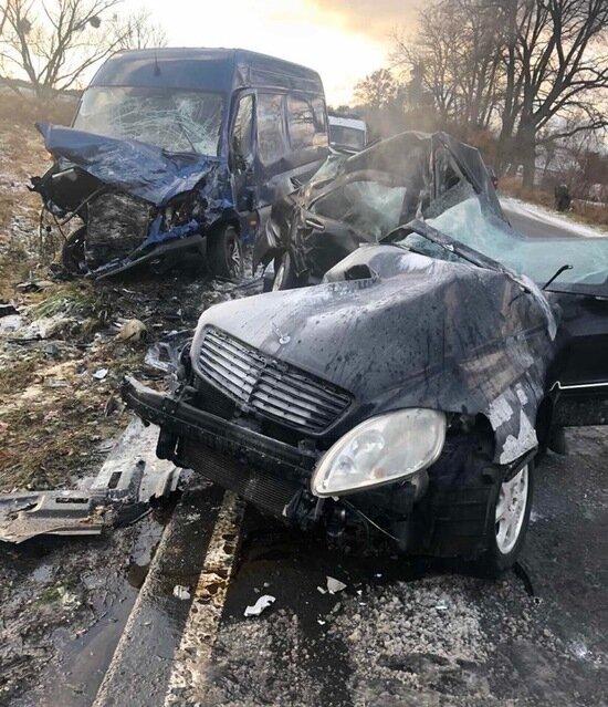 В Багратионовском районе разбился насмерть водитель Mercedes - Новости Калининграда   Фото: очевидец