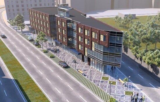 Проектировщик офисного центра на 9 Апреля планирует увеличить площадь застройки      - Новости Калининграда   Эскиз офисного центра