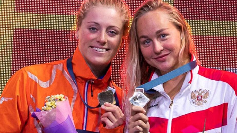 Анна Егорова — справа | Фото: Всероссийская федерация плавания