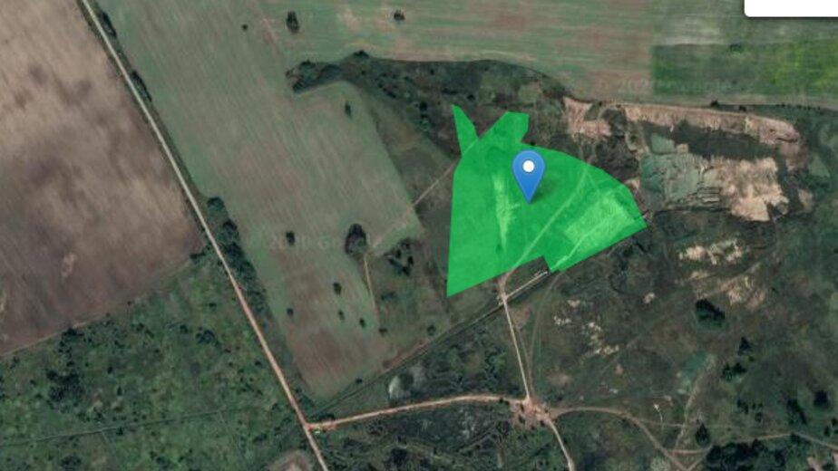 Калининградская компания планирует добывать глину в Гурьевском районе   - Новости Калининграда   Фото: Скриншот с публичной кадастровой карты