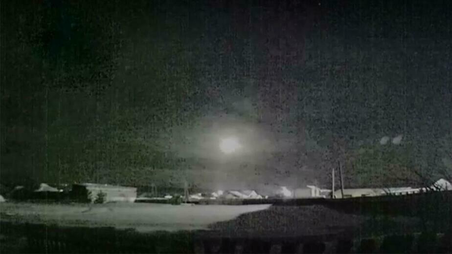 В Свердловской области упал метеорит (видео) - Новости Калининграда | Изображение: кадр из видео