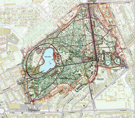 Власти Калининграда показали, как будет выглядеть обновлённый парк Макса Ашманна - Новости Калининграда | Схема: пресс-служба городской администрации