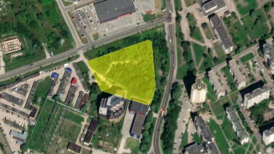 Рядом с парком Макса Ашмана планируют построить деловой центр - Новости Калининграда | Скриншот кадастровой карты