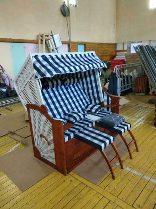 В Зеленоградске закупили 20 пляжных корзин, изготовленных по старинному образцу (фото) - Новости Калининграда | Фото: администрация городского округа