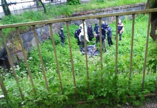 В ручье на Литовском валу нашли тело мужчины   - Новости Калининграда | Фото: очевидец