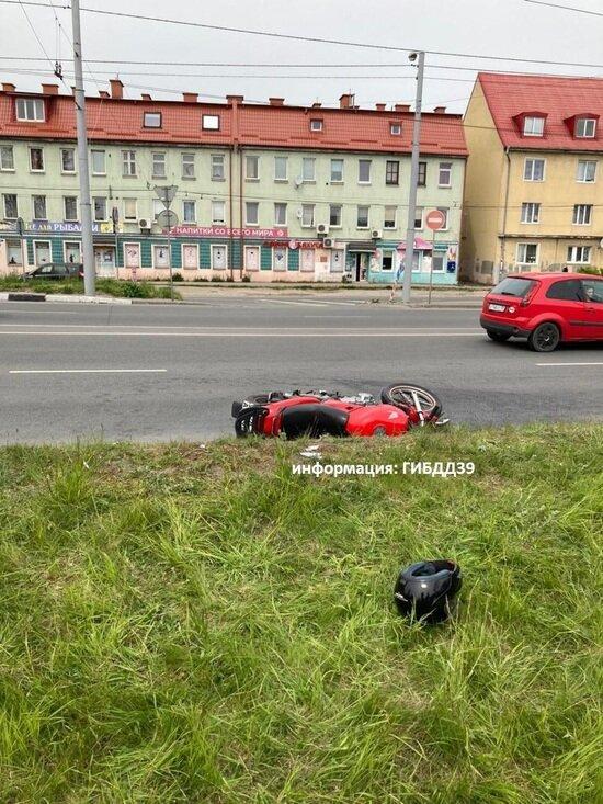 После ДТП на Брусничной в больнице умерла мотоциклистка - Новости Калининграда | Фото: пресс-служба УМВД России по Калининградской области