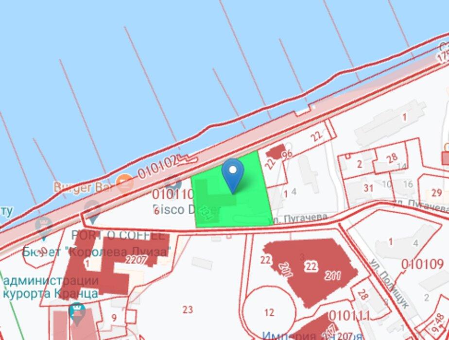 В Зеленоградске разрешили построить пятиэтажный комплекс апартаментов - Новости Калининграда | Скриншот публичной кадастровой карты