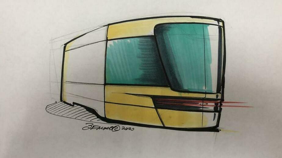 Эскиз трамвая Корсар