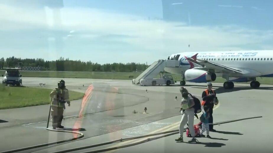 Появилось видео с места столкновения калининградского самолёта в Пулково - Новости Калининграда | Изображение: кадр из видео