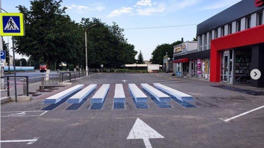 В Советске нарисовали первый в регионе 3D пешеходный переход (фото) - Новости Калининграда   Фото: страница центрального рынка города /  Instagram